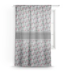Red & Gray Polka Dots Sheer Curtains (Personalized)