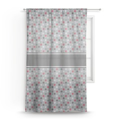 "Red & Gray Polka Dots Sheer Curtain - 50""x84"" (Personalized)"