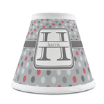 Red & Gray Polka Dots Chandelier Lamp Shade (Personalized)