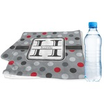 Red & Gray Polka Dots Sports & Fitness Towel (Personalized)
