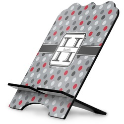 Red & Gray Polka Dots Stylized Tablet Stand (Personalized)