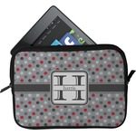 Red & Gray Polka Dots Tablet Case / Sleeve (Personalized)