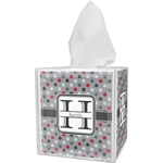 Red & Gray Polka Dots Tissue Box Cover (Personalized)
