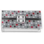 Red & Gray Polka Dots Vinyl Checkbook Cover (Personalized)
