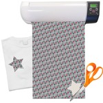Red & Gray Polka Dots Heat Transfer Vinyl Sheet (12