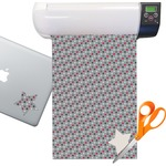 Red & Gray Polka Dots Sticker Vinyl Sheet (Permanent)
