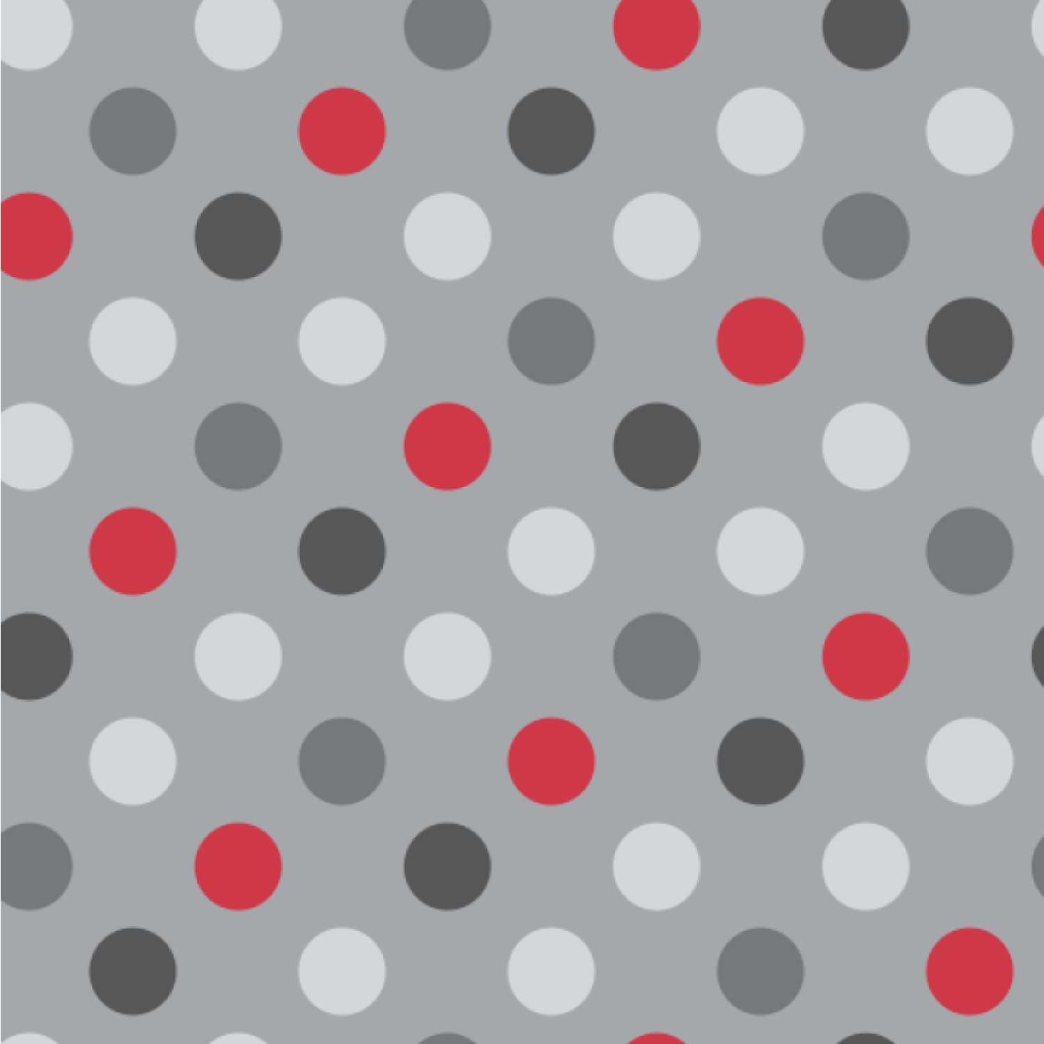 Red Gray Polka Dots Wallpaper Surface Covering