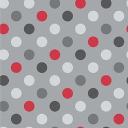 Red & Gray Polka Dots Wallpaper & Surface Covering