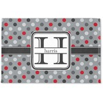 Red & Gray Polka Dots Woven Mat (Personalized)