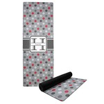 Red & Gray Polka Dots Yoga Mat (Personalized)