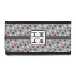 Red & Gray Polka Dots Ladies Wallet (Personalized)