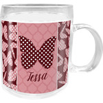 Polka Dot Butterfly Acrylic Kids Mug (Personalized)