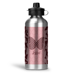 Polka Dot Butterfly Water Bottle - Aluminum - 20 oz (Personalized)