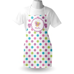 Polka Dot Butterfly Apron (Personalized)