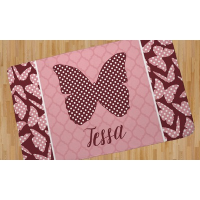 Polka Dot Butterfly Area Rug (Personalized)
