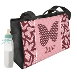 Polka Dot Butterfly Diaper Bag (Personalized)