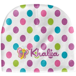 Polka Dot Butterfly Baby Hat (Beanie) (Personalized)