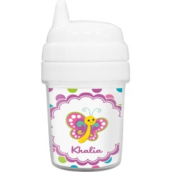 Polka Dot Butterfly Baby Sippy Cup (Personalized)
