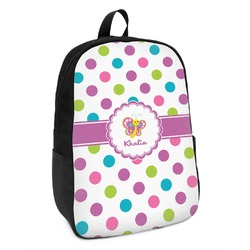Polka Dot Butterfly Kids Backpack (Personalized)
