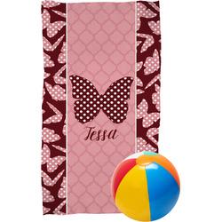 Polka Dot Butterfly Beach Towel (Personalized)