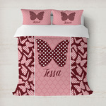 Polka Dot Butterfly Duvet Covers (Personalized)