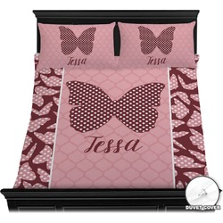 Polka Dot Butterfly Duvet Cover Set (Personalized)