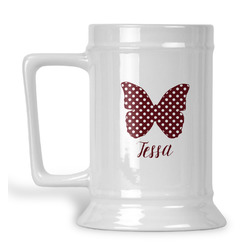 Polka Dot Butterfly Beer Stein (Personalized)