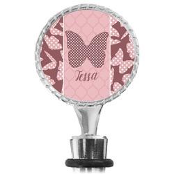 Polka Dot Butterfly Wine Bottle Stopper (Personalized)