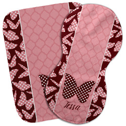 Polka Dot Butterfly Burp Cloth (Personalized)