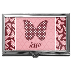 Polka Dot Butterfly Business Card Case