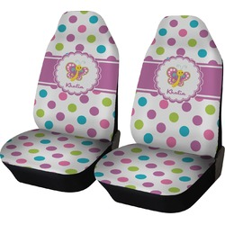 Polka Dot Butterfly Car Seat Covers (Set of Two) (Personalized)