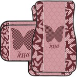 Polka Dot Butterfly Car Floor Mats (Personalized)