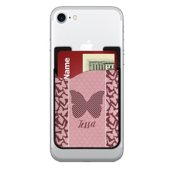 Polka Dot Butterfly 2 in 1 Cell Phone Credit Card Holder & Screen Cleaner (Personalized)