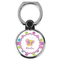 Polka Dot Butterfly Cell Phone Ring Stand & Holder (Personalized)