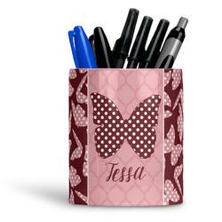 Polka Dot Butterfly Ceramic Pen Holder