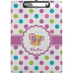 Polka Dot Butterfly Clipboard (Personalized)