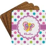 Polka Dot Butterfly Coaster Set (Personalized)