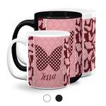 Polka Dot Butterfly Coffee Mugs (Personalized)