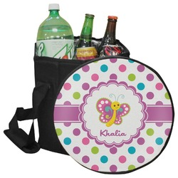Polka Dot Butterfly Collapsible Cooler & Seat (Personalized)