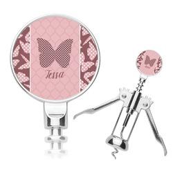 Polka Dot Butterfly Corkscrew (Personalized)