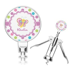 Polka Dot Butterfly Corkscrew (Personalized)