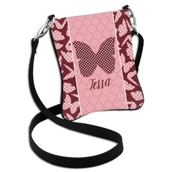 Polka Dot Butterfly Cross Body Bag - 2 Sizes (Personalized)