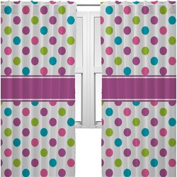 Polka Dot Butterfly Curtains (2 Panels Per Set) (Personalized)