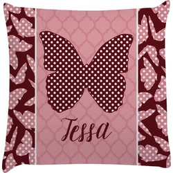Polka Dot Butterfly Decorative Pillow Case (Personalized)