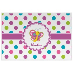 Polka Dot Butterfly Placemat (Laminated) (Personalized)