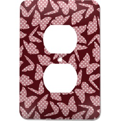 Polka Dot Butterfly Electric Outlet Plate (Personalized)