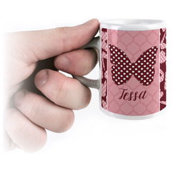 Polka Dot Butterfly Espresso Cups (Personalized)