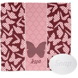 Polka Dot Butterfly Wash Cloth (Personalized)