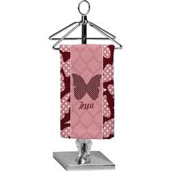 Polka Dot Butterfly Finger Tip Towel - Full Print (Personalized)