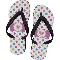 Polka Dot Butterfly Flip Flops (Personalized)